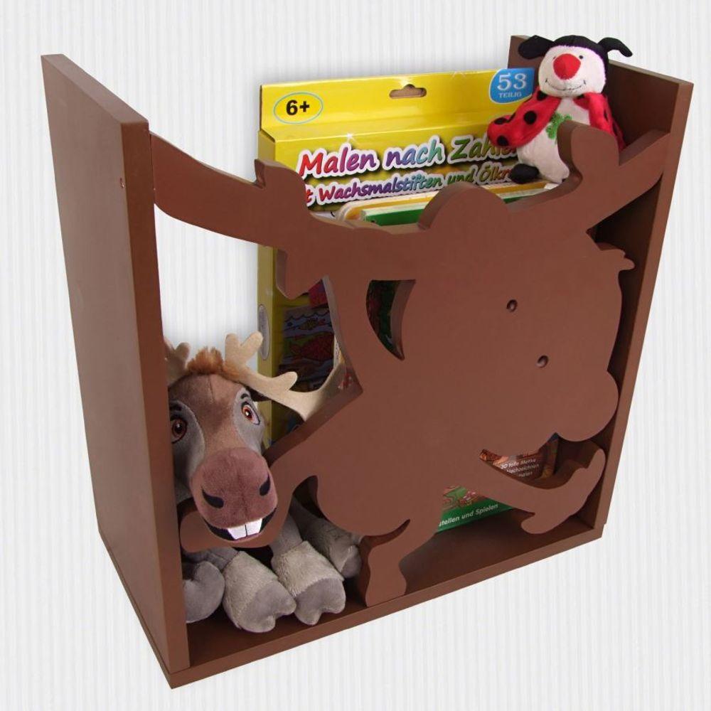 Kinderregal Affe Spielzeugregal Wandregal Regal Kinderzimmer Aufbewahrung Bücher – Bild 1