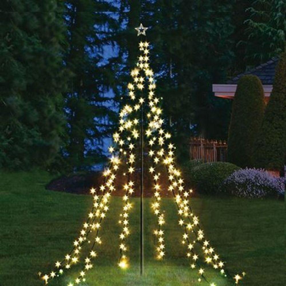 XXL 4 Meter Lichterpyramide 400 LEDs Lichterkette Beleuchtung Weihnachten Stern