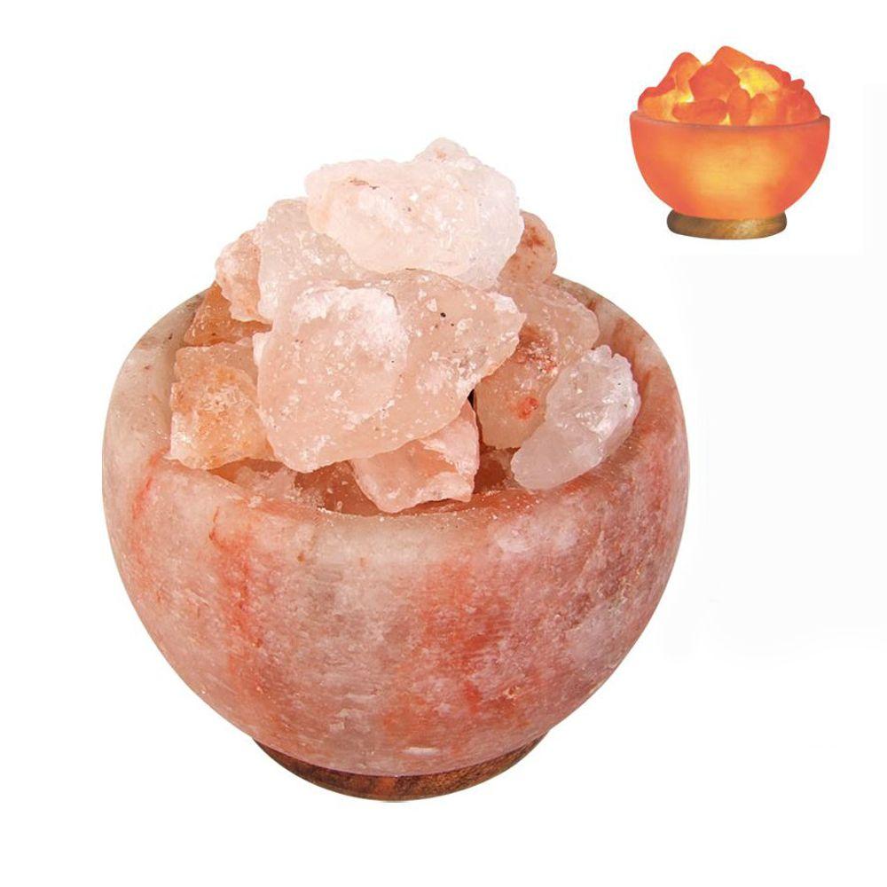Salzkristalllampe beleuchtet Salzkristallschale Salzkristalle Salzlampe Deko – Bild 1