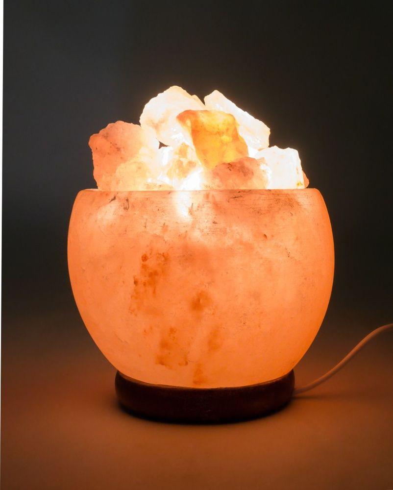 Salzkristall-Leuchte Kristall-Schale – Bild 2
