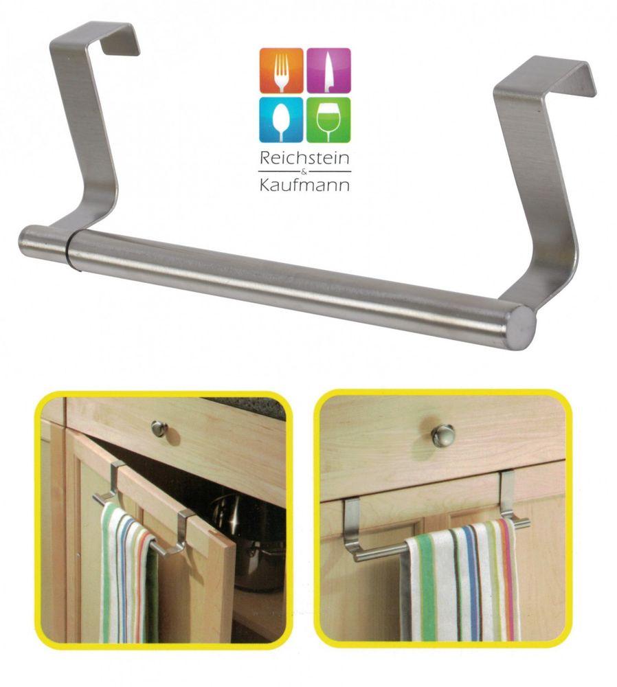 ausziebare Türgarderobe Handtuch Halter Türhänger Türhalterung Handtuchstange – Bild 1
