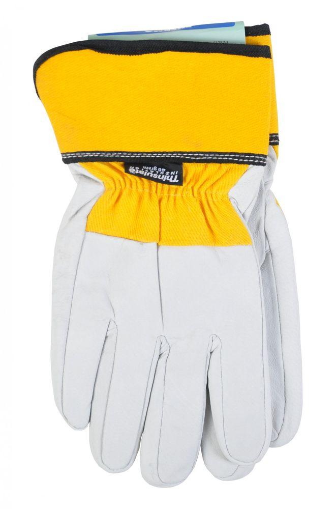 Thermo-Arbeitshandschuhe 3M Thinsulate Lederhandschuhe Handschuhe Montage Winter – Bild 2