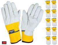 10 Paar Thermo-Arbeitshandschuhe Gr.9 Thinsulate Lederhandschuh Montagehandschuh 001