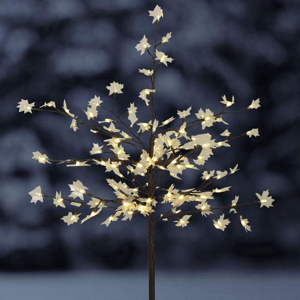 Solar-Steckbaum Ahorn mit 128 LED Beleuchtung Deko-Baum Garten Winterdeko – Bild 1