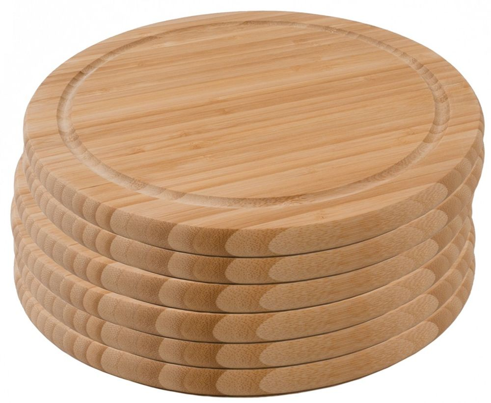 6er-Set Bambus Schneidebrett Frühstücksbrett Bambusbrett Stullenbrett neu – Bild 1