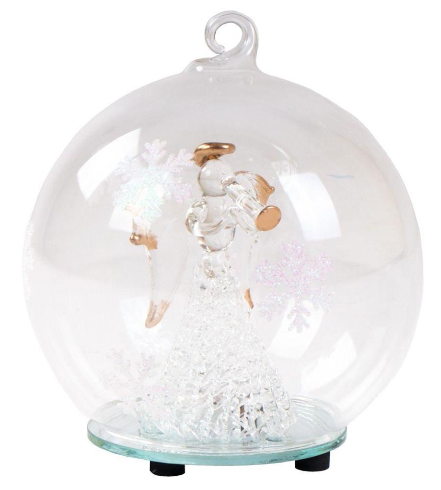 LED-Weihnachtsbaumkugel -Engel- mit Farbwechsler Deko Glaskugel Christbaumkugel – Bild 3