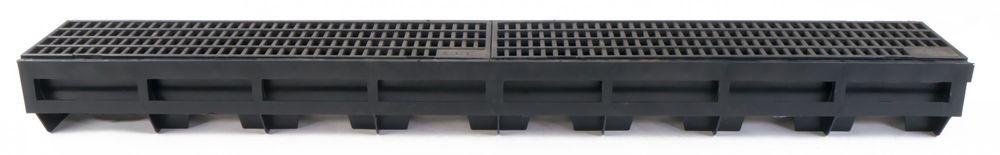 Hauraton Entwässerungsrinne Kunststoffrinne mit Stegrost verzinkt Entwässerung – Bild 4
