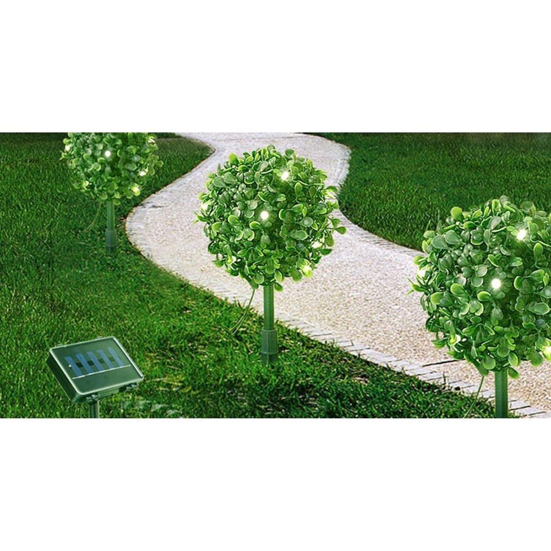 solar led buchsbaumkugeln 3 stk gartenbeleuchtung deko buxus dauer u blinklicht garten. Black Bedroom Furniture Sets. Home Design Ideas