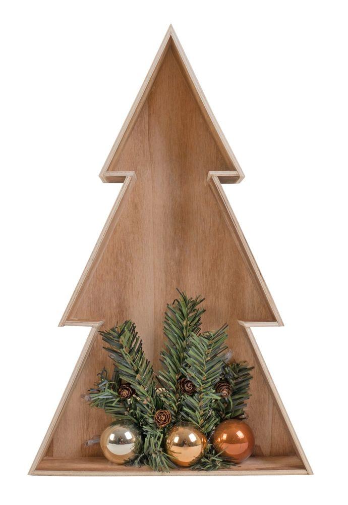 3D LED-Holz-Weihnachtsbaum 38cm Weihnachtsdeko Fensterbild Wanddeko Beleuchtung – Bild 4