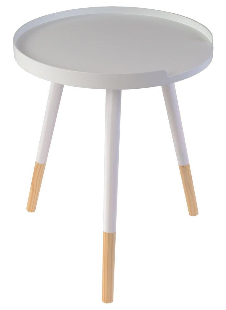 Beistelltisch 3-beinig Tablett-Design Telefontisch Nachttisch Blumentisch Deko – Bild 4