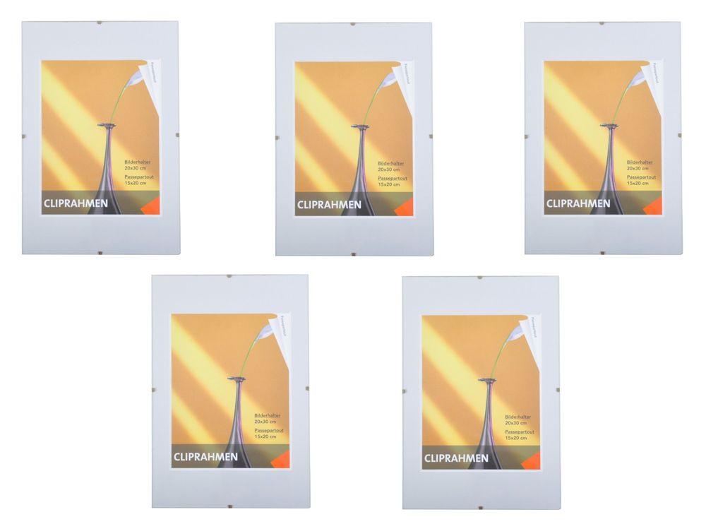 5er-Set Rahmenlos Bilderhalter Bilderrahmen 20x30 cm Poster Fotorahmen modern