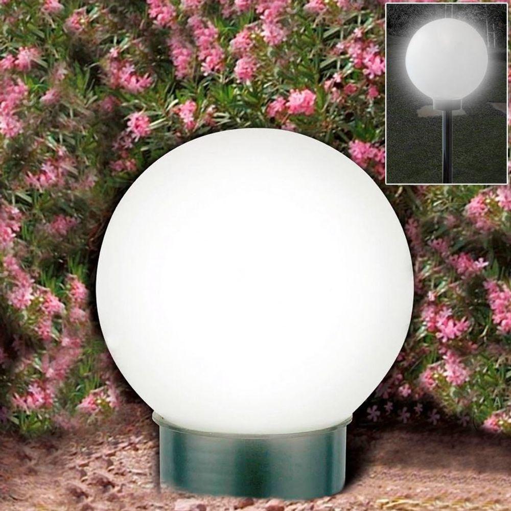2er-Set LED-Solar-Kugelleuchte Kugellampe Leuchtkugel Solarlampe Lichtkugel – Bild 4