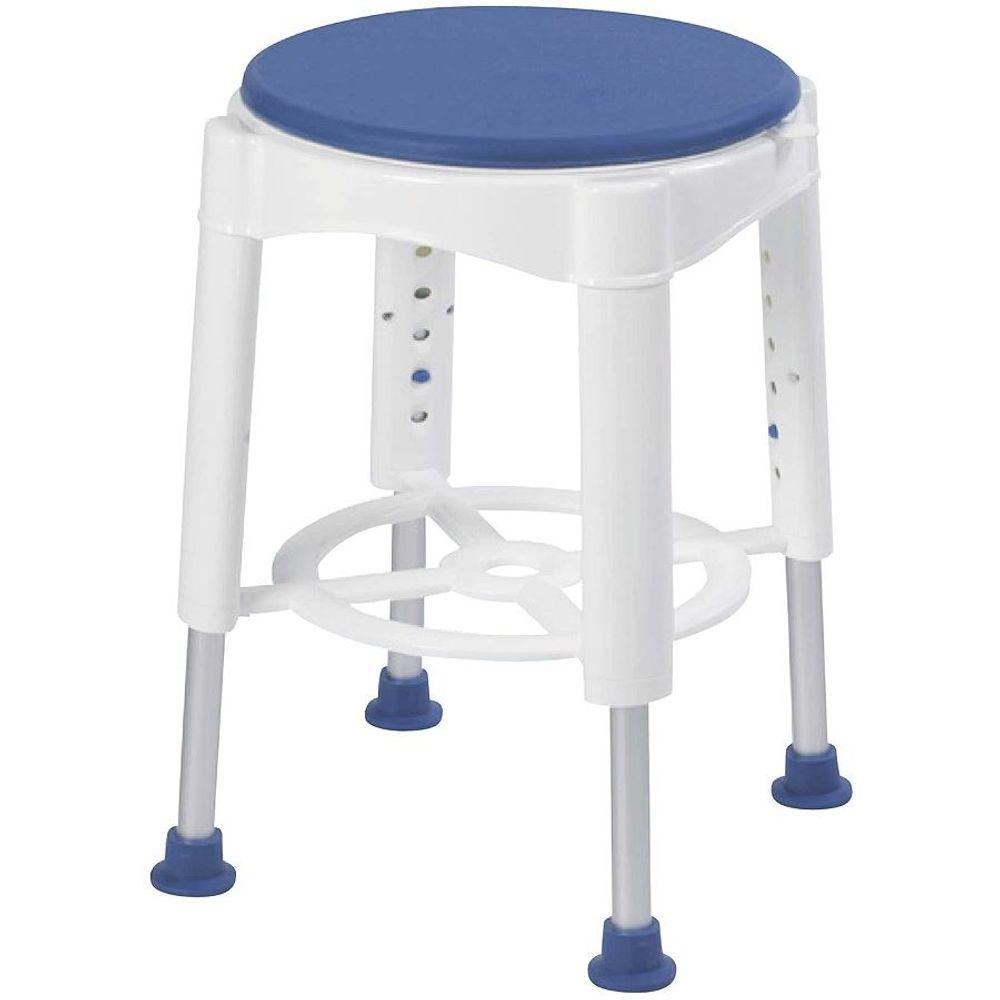Duschhocker mit drehbarer Sitzfläche Drehstuhl Badestuhl Duschsitz Duschhilfe  – Bild 1