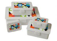 5er-Dosenset E&K Lunchboxen Snackboxen Brotdose Aufbewahrung Schule Picknick Box 001