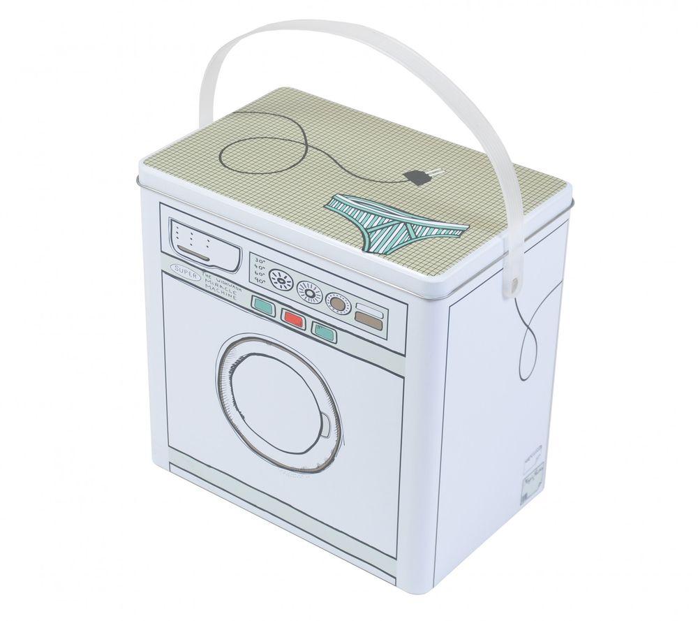 Waschmittelbox Metall Waschpulverbox Behälter Waschmittelbehälter Dose Büchse – Bild 1