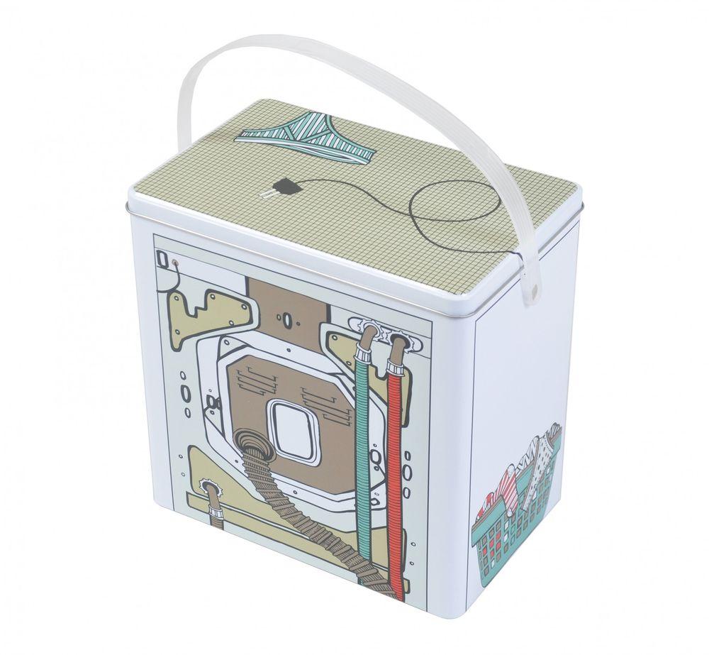 Waschmittelbox Metall Waschpulverbox Behälter Waschmittelbehälter Dose Büchse – Bild 2