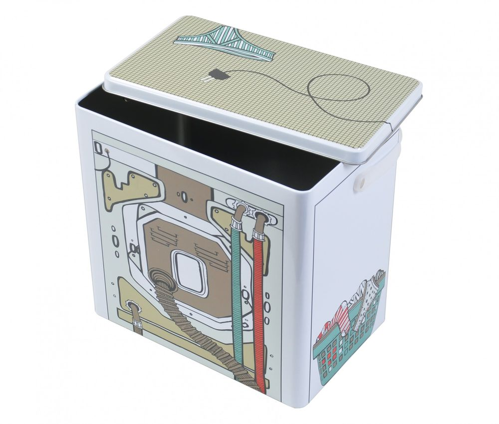 Waschmittelbox Metall Waschpulverbox Behälter Waschmittelbehälter Dose Büchse – Bild 3