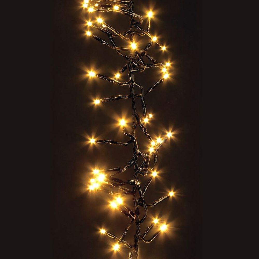 LED-Cluster-Lichterkette 768 LEDs Weihnachtsbeleuchtung Deko Beleuchtung Garten – Bild 2