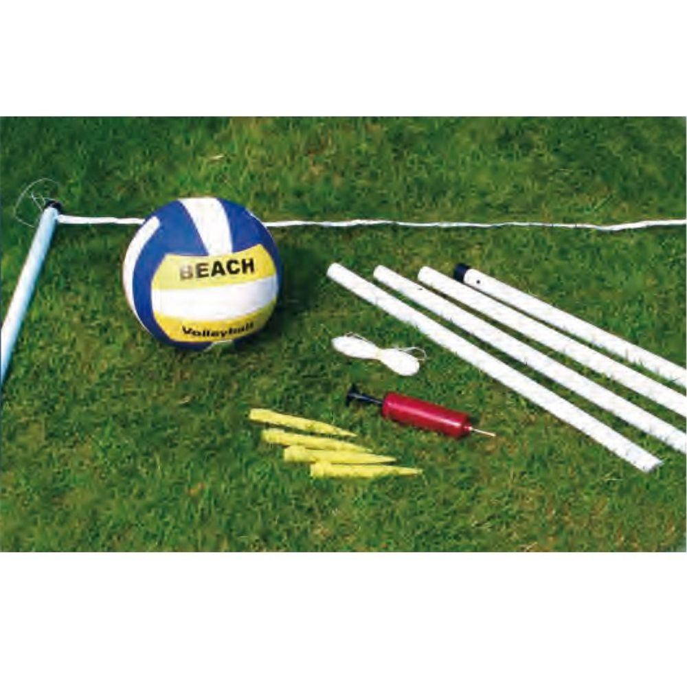 Hobby-Beach-Volleyballset Beachvolleyball Ballspiel Set Strandball ca.6x2x1,95m – Bild 2