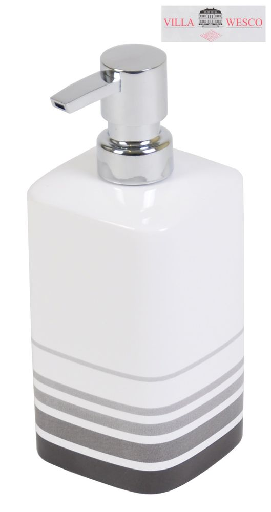 Villa Wesco Keramik / Edelstahl Seifenspender Flüssigseifenspender Seife Spender – Bild 1