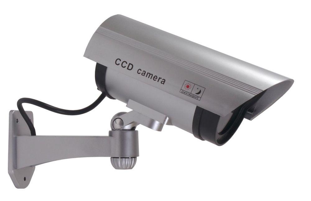 Überwachungskamera-Attrappe LED Außen u Innen Dummy`s Fake Kamera Camera CCD – Bild 1