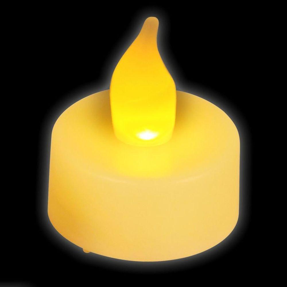 LED-Teelichter 8er-Set + Batterien Dekolicht Kerze elektrische Teelichte Kerzen – Bild 2