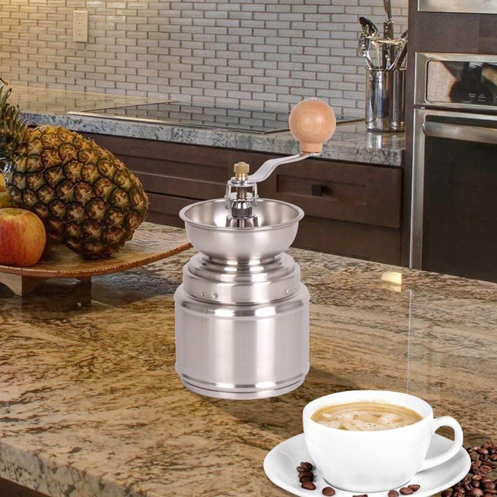 Nostalgie-Kaffeemühle aus Edelstahl Keramikmahlwerk Espressomühle Zerkleinerer – Bild 2