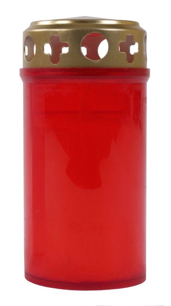 Grabkerze rot Grablicht Gedenkkerze Trauerkerze 3-Tagebrenner Grableuchte