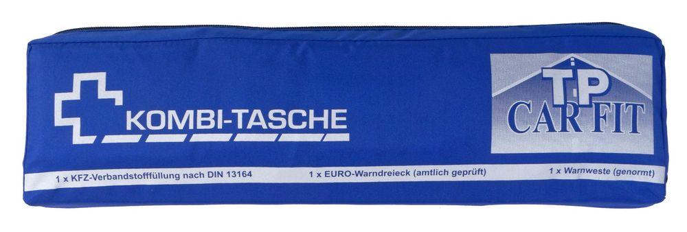3in1 KFZ-Kombitasche Verbandskasten + Warndreieck + Warnweste Auto Erste Hilfe  – Bild 5