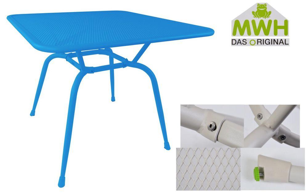 MWH-Gartentisch Conello 90x90x74cm Streckmetalltisch Balkon Terrasse ELOTHERM® – Bild 3
