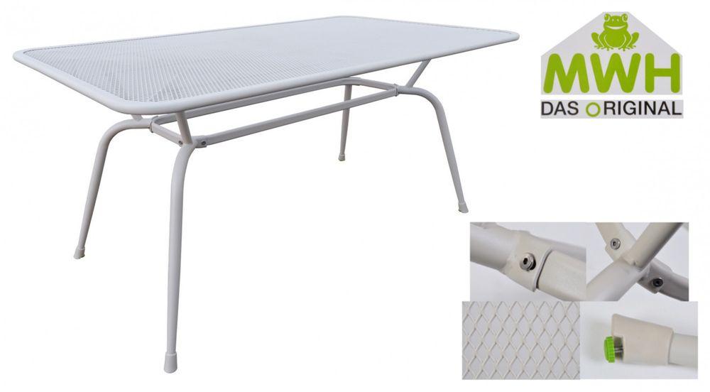 MWH-Gartentisch Conello 160x90x74cm Streckmetalltisch Balkon Terrasse ELOTHERM® – Bild 5