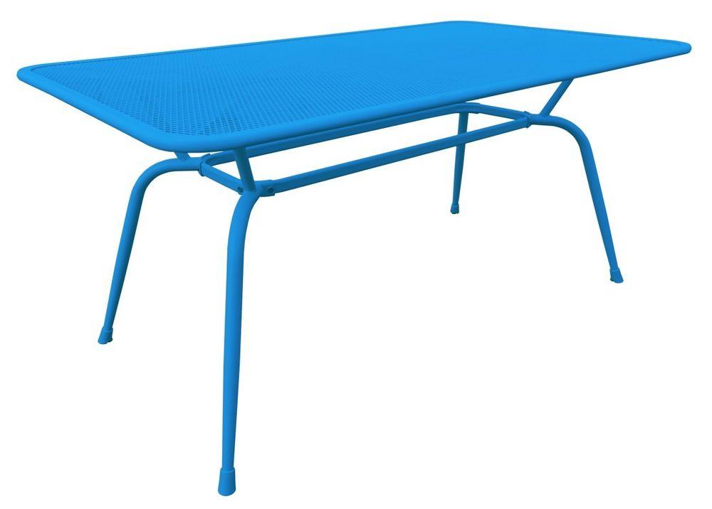 MWH-Tisch Conello 160x90x74cm blau Streckmetalltisch Gartentisch ...