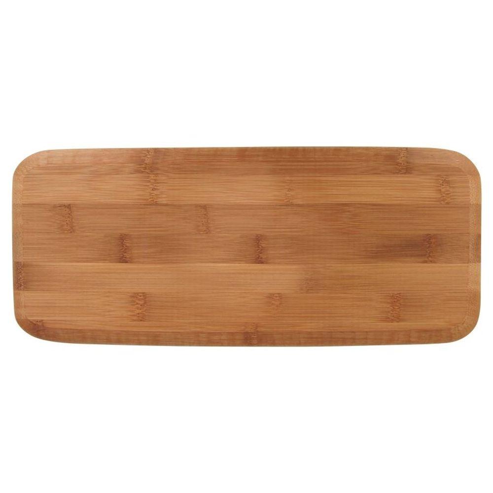 Bambus-Schneidebrett 36x15cm Buffet Servierplatte Holzbrett Küchenbrett Brotzeit – Bild 2