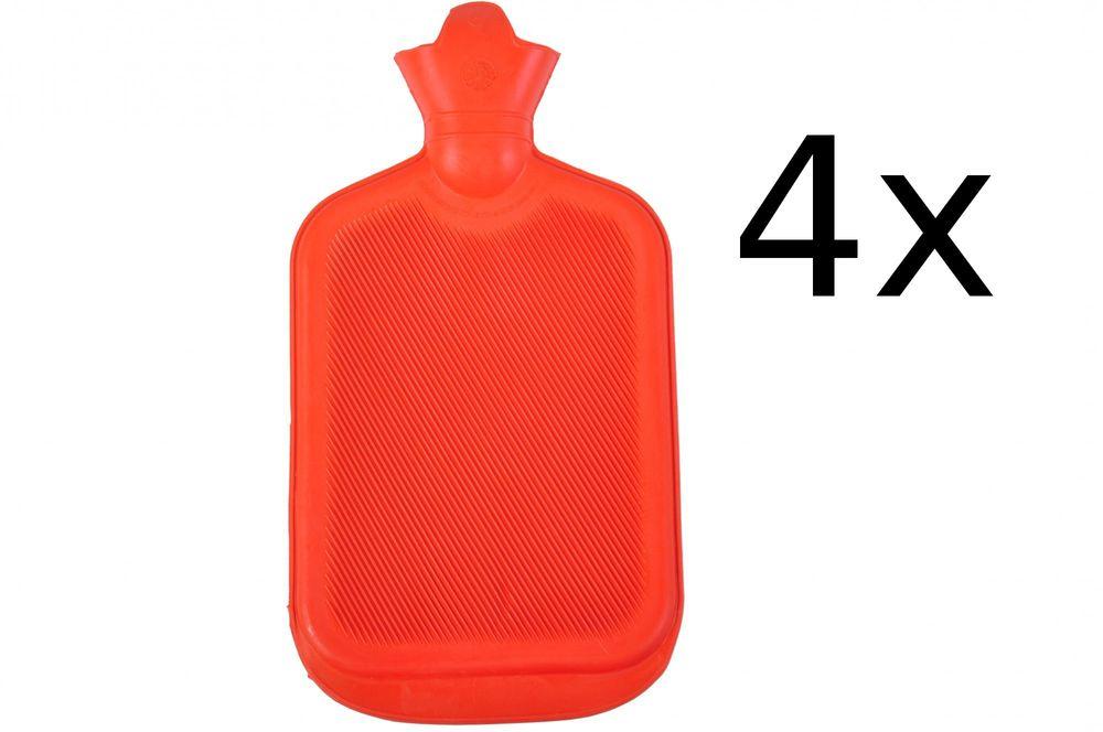 4x Wärmflasche Retro 2L Wärmetherapie Wärme Flasche Therapie Wärmekissen Gummi – Bild 2