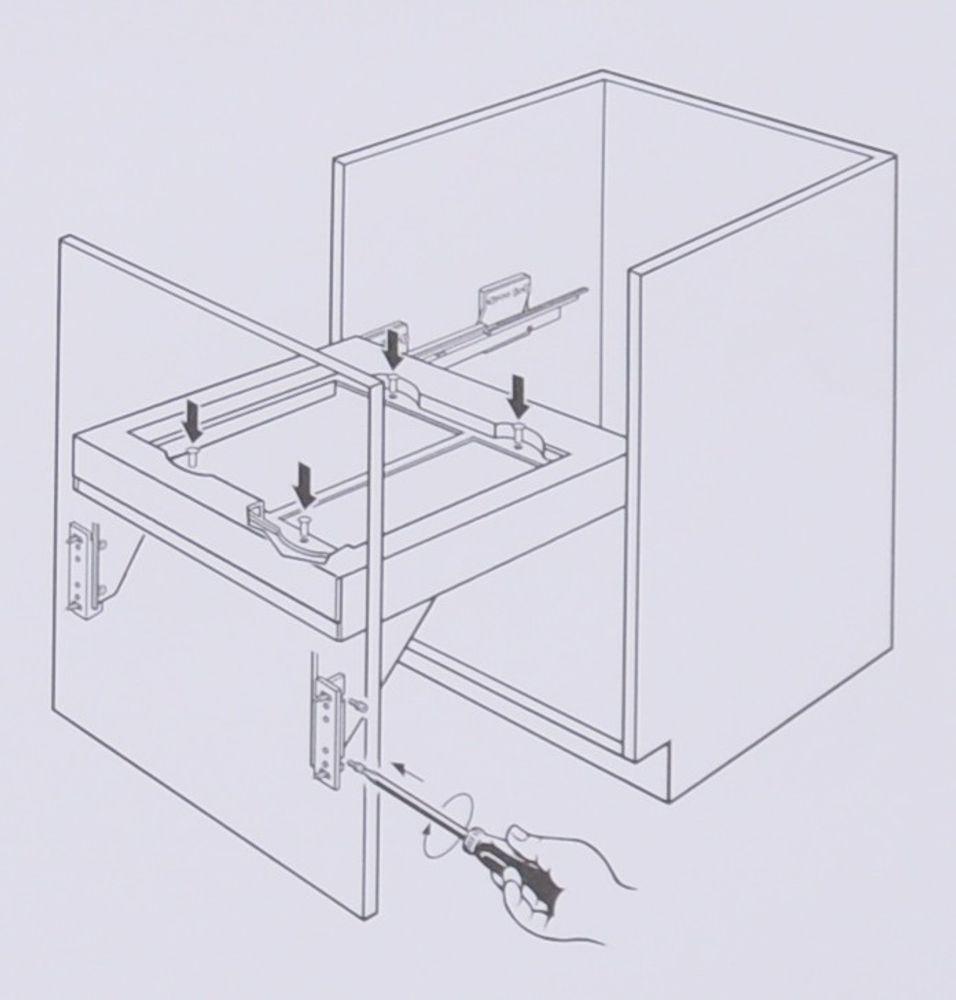 Wesco Pullboy Premium Einbau Abfallsammler Selbsteinzug Mülleimer Abfalleimer – Bild 3