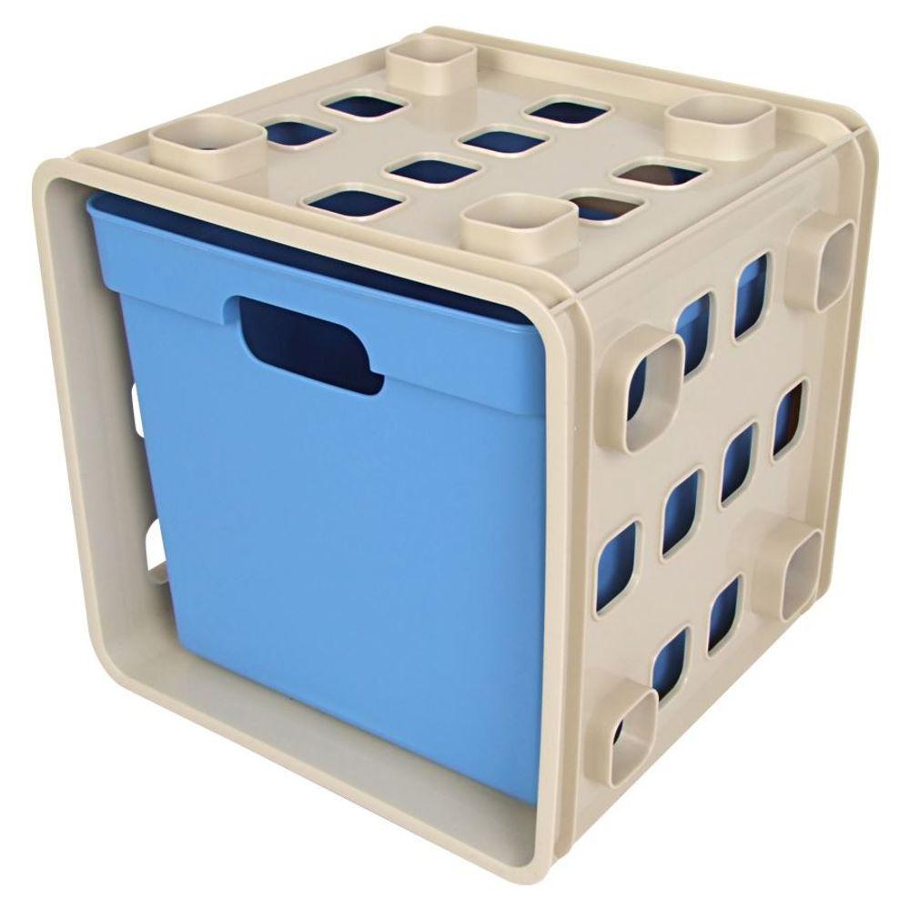 Stapelbarer Modulwürfel mit Box Steckregal Wandregal Kinderzimmer Regalsystem – Bild 5