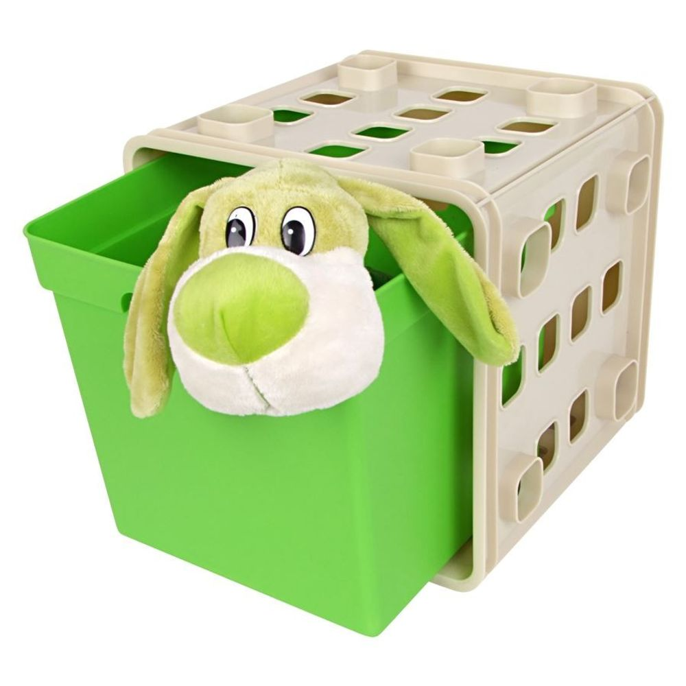 Stapelbarer Modulwürfel mit Box Steckregal Wandregal Kinderzimmer Regalsystem – Bild 4