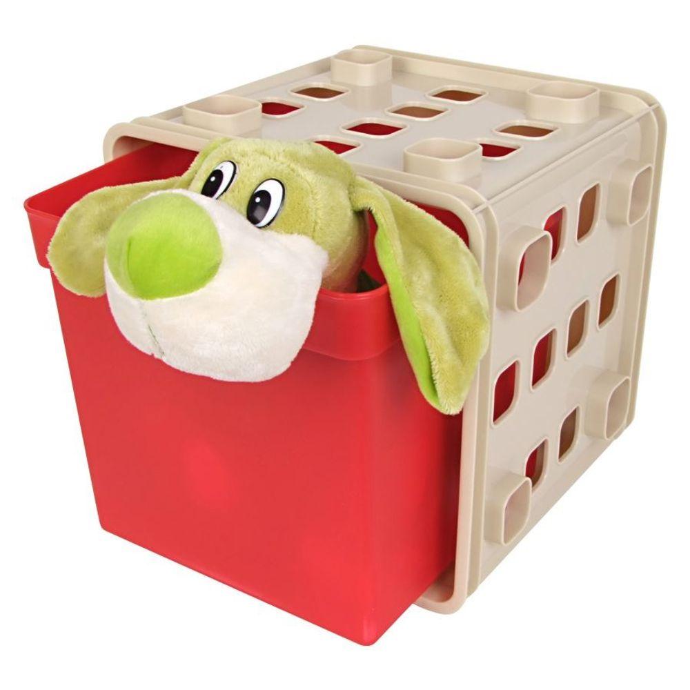 Stapelbarer Modulwürfel mit Box Steckregal Wandregal Kinderzimmer Regalsystem – Bild 6