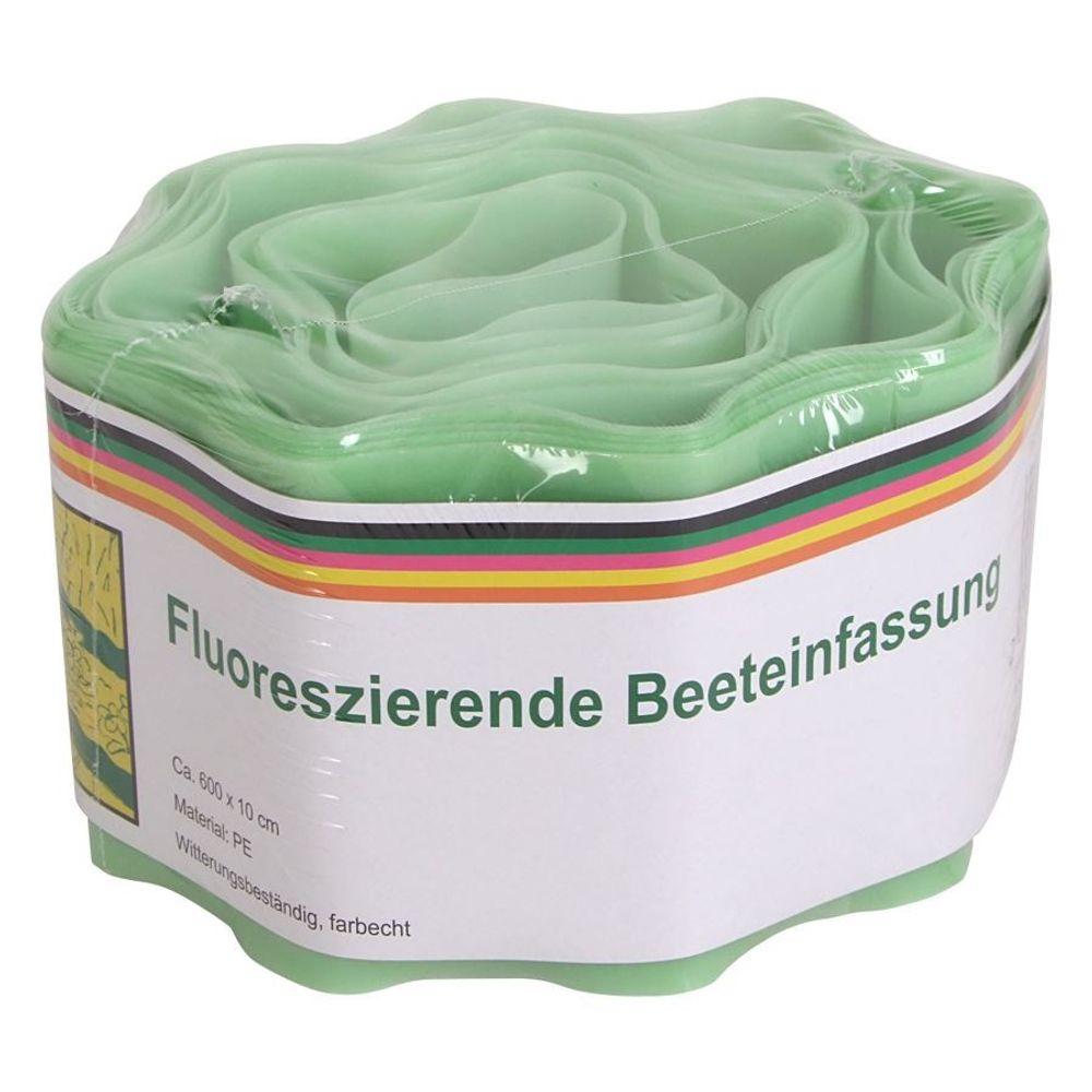 Fluoreszierende Beeteinfassung 600x10cm Beetumrandung Rasenbegrenzung Gartendeko – Bild 1