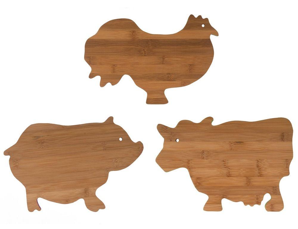 Bambus Schneidebrett Tierdesign Brotzeitbrett Küchenbrett Holzbrett Stullenbrett – Bild 1