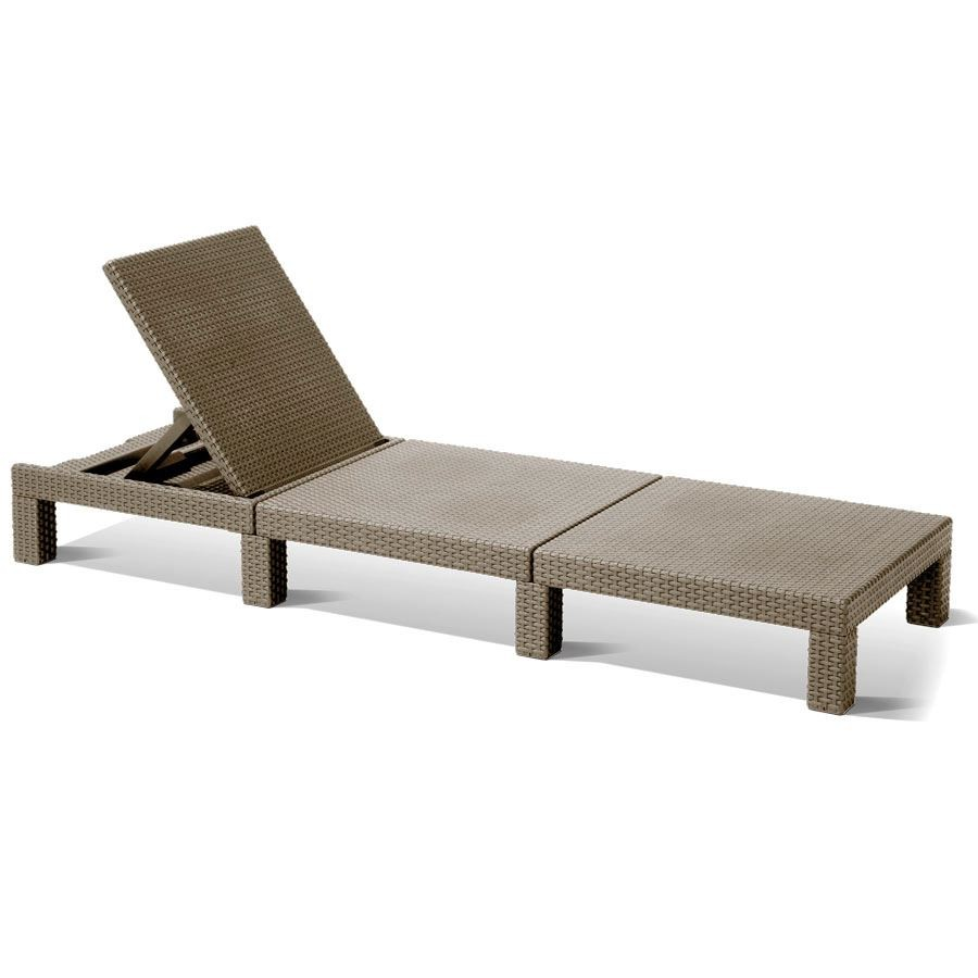 allibert mississippi sunlounger cappuccino sonnenliege gartenliege polyrattan garten m bel. Black Bedroom Furniture Sets. Home Design Ideas