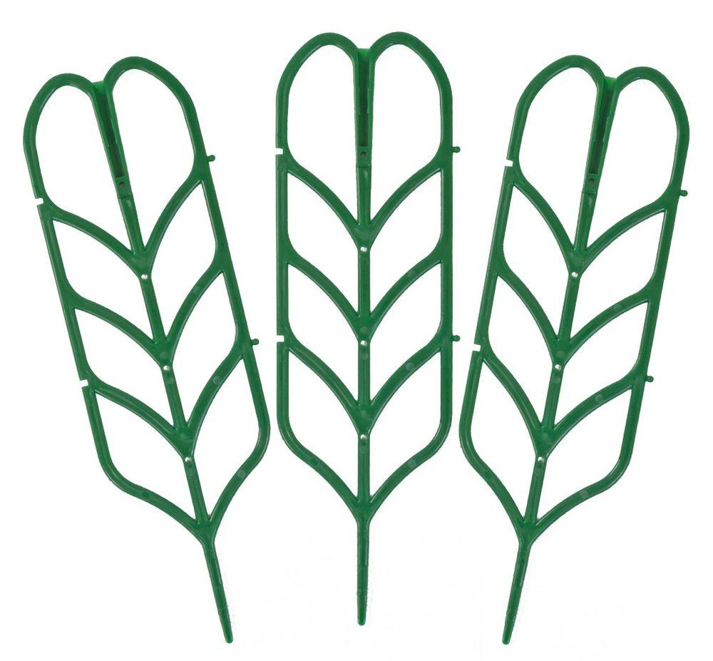 Mini-Pflanzenrankhilfe 3er-Set Blumenspalier Rankgitter Kunststoff Pflanzgitter