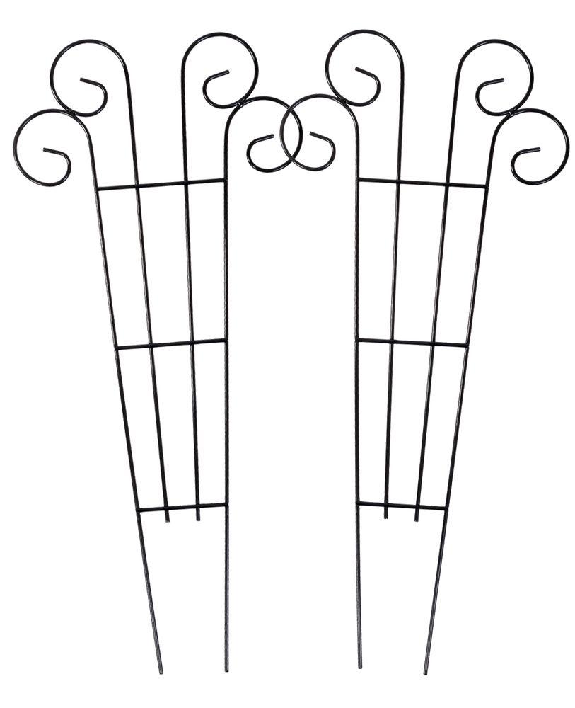 2x Metall Blumenspalier 62x28cm Rankhilfe Blumenstütze Rankgitter Kletterhilfe