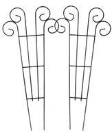 2x Metall Blumenspalier 62x28cm Rankhilfe Blumenstütze Rankgitter Kletterhilfe  001