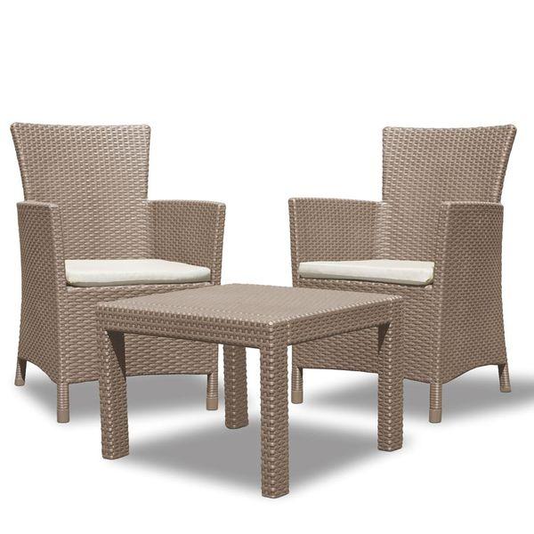 Allibert balcony seating cappuccino terrace furniture for Outdoor furniture utah
