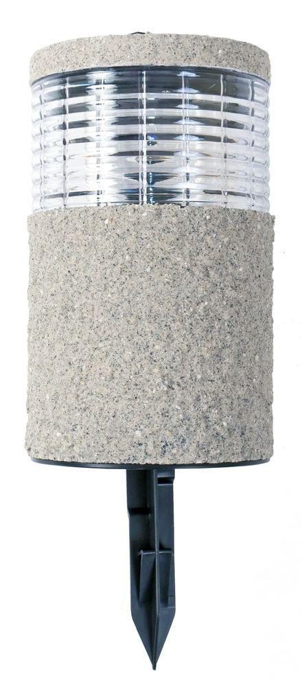 6x LED-Solarlampe Steinoptik 19x11cm Gartenlampe Dekolicht Wegeleuchte Erdspieß – Bild 2