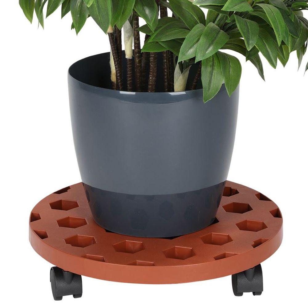 Pflanzenroller 35cm Blumenroller Untersetzer Kübelroller Rollbrett Transport – Bild 1