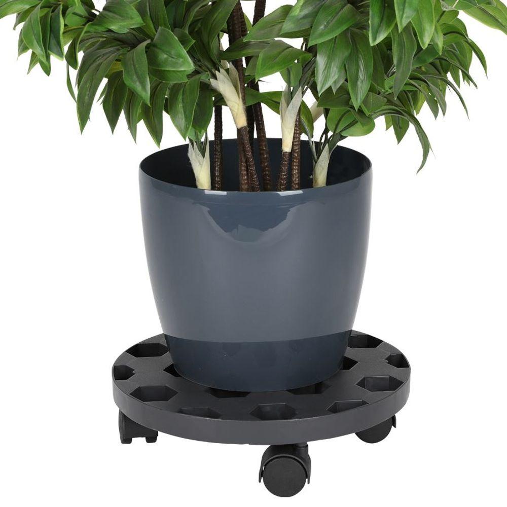 Pflanzenroller 30cm Blumenroller Untersetzer Kübelroller Rollbrett Transport – Bild 1