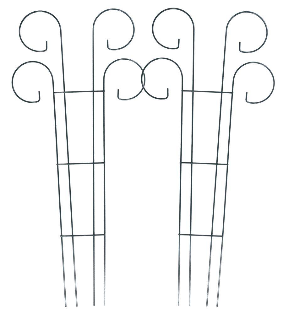 2x Metall-Blumenspalier 90x41cm Rankgitter Rankhilfe Pflanzenstütze Kletterhilfe