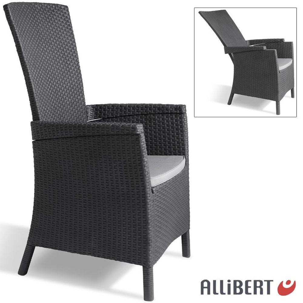 Allibert Lida Gartensessel 4-fach verstellbar Liegestuhl Gartenstuhl Terrasse – Bild 1